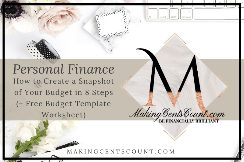 How to Create a Snapshot of Your Budget in 8 Steps (+ Free Budget Template Worksheet)
